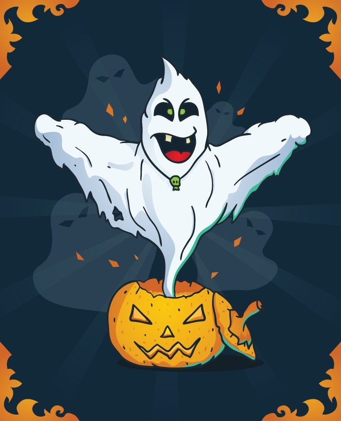 Vector Halloween Ghost скачать бесплатно